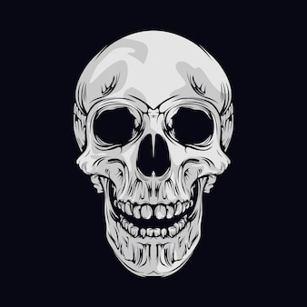 Улыбающийся череп