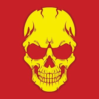 黄色の頭蓋骨