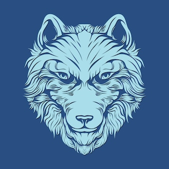 装飾のための毛深いオオカミ
