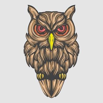Рисованной сова