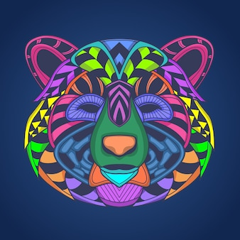 Цветная голова медведя