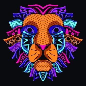 ネオンカラーから装飾的なライオンヘッド