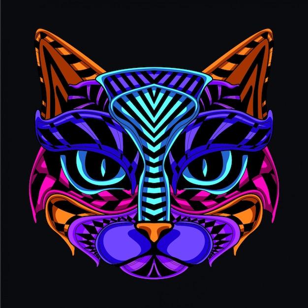 装飾的な猫のイラスト