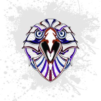 Орел из абстрактного орнамента