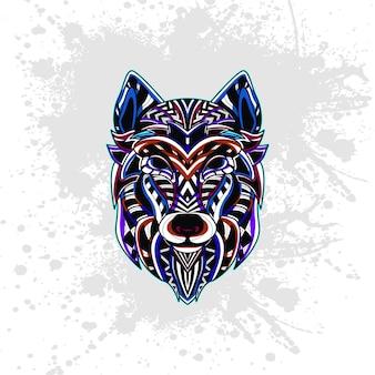 Волк из абстрактного орнамента