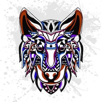オオカミの抽象的なパターン