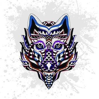 Абстрактный узор волка