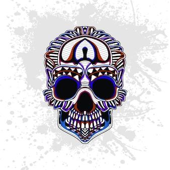 頭蓋骨の抽象的なパターン