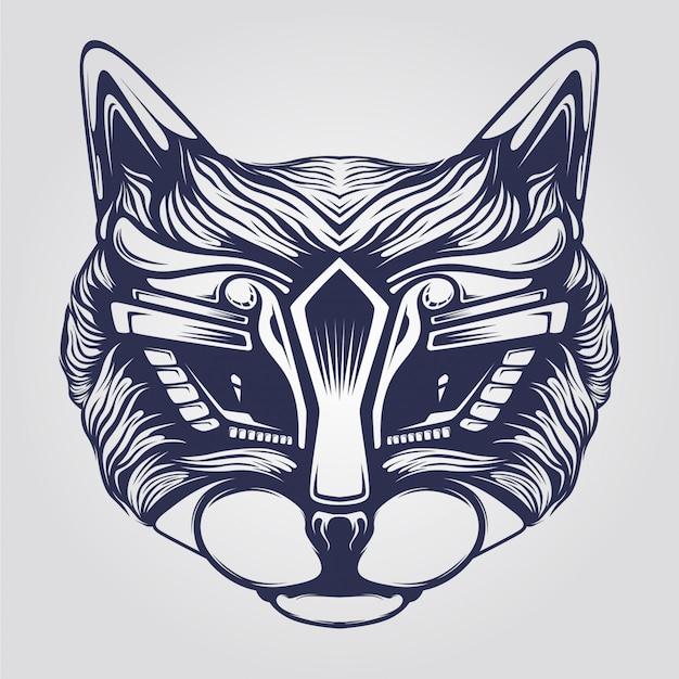 猫ラインアート