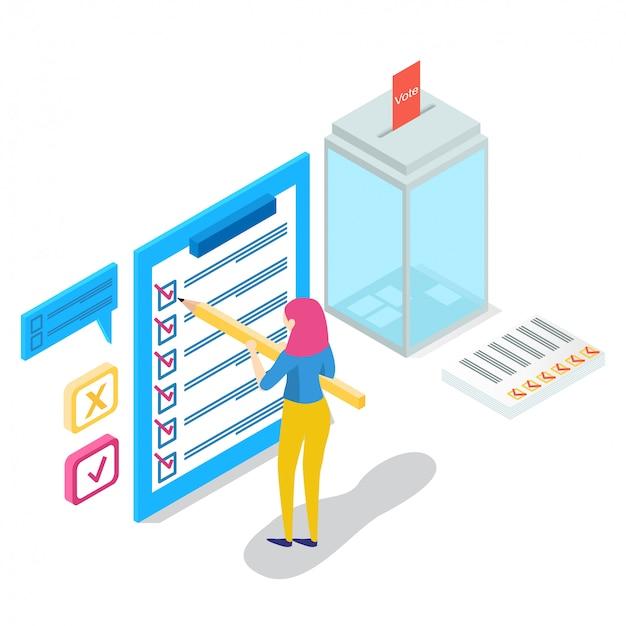 等尺性オンライン調査の概念、文字、