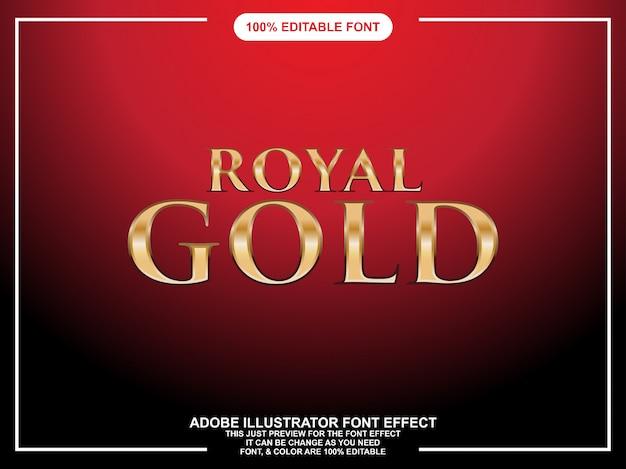 Королевское золото графический стиль иллюстратор редактируемая типография