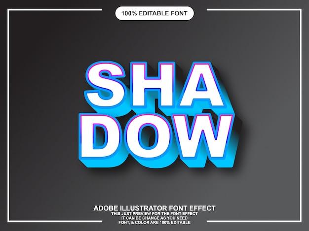 モダンな大胆な影編集可能なテキスト効果のグラフィックスタイル