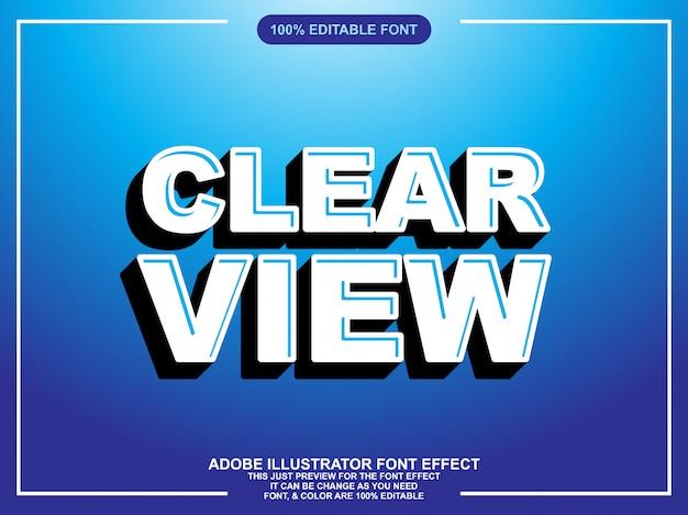 Современный жирный редактируемый иллюстратор текстовый эффект
