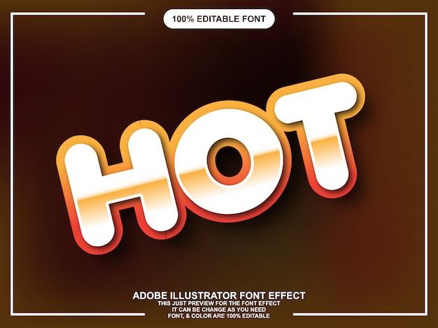 Редактируемый графический стиль жирный округлый текст