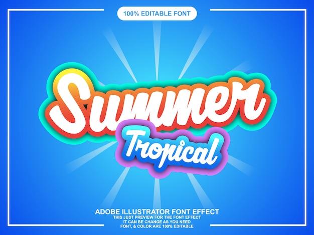 明るい色で編集可能なカラフルな夏のステッカー