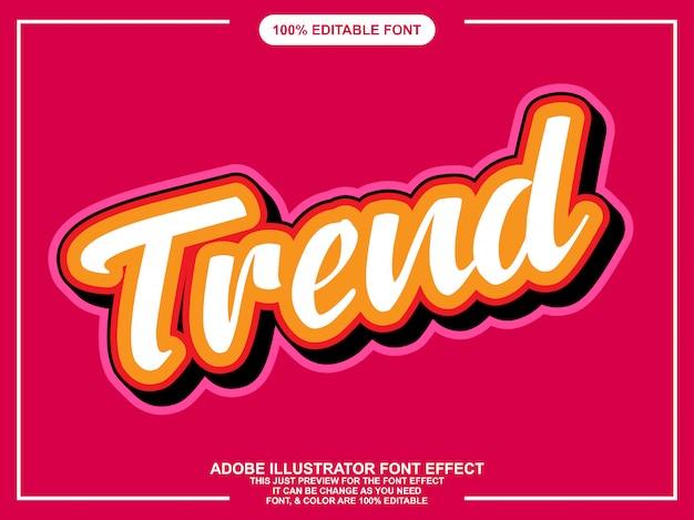 Редактируемый эффект шрифта