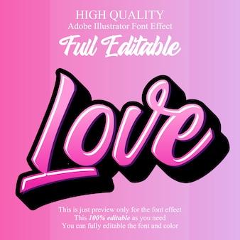 Простой любовный сценарий редактируемый типографский эффект шрифта