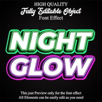 大胆な輝くテキストスタイルの編集可能なフォント効果