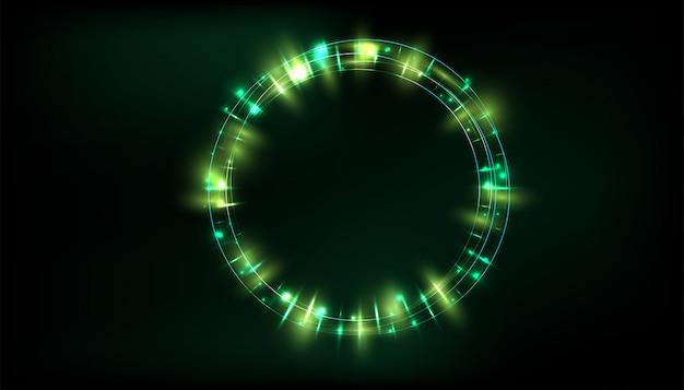 Прозрачный световой эффект свечения