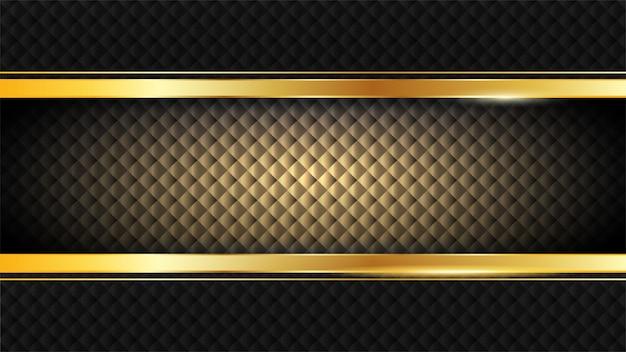 ビンテージ光沢のあるゴールデンフレーム