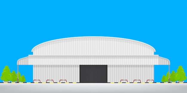 外の工場空床、倉庫工場ビルの物流倉庫