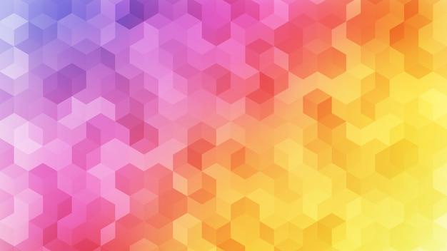虹色のキューブ抽象的な背景