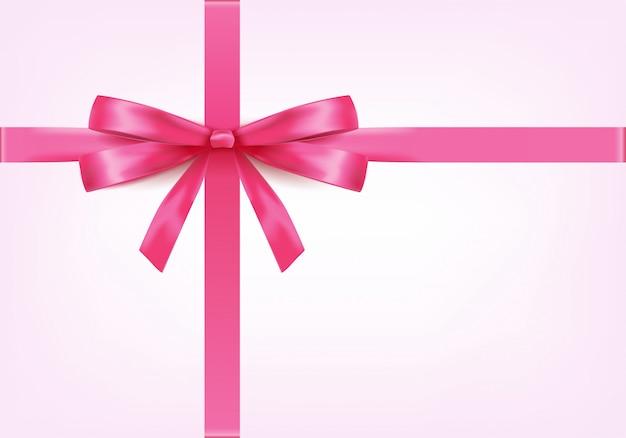 Элегантная розовая лента с бантом