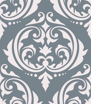オリエンタルダマスク織のシームレスパターン