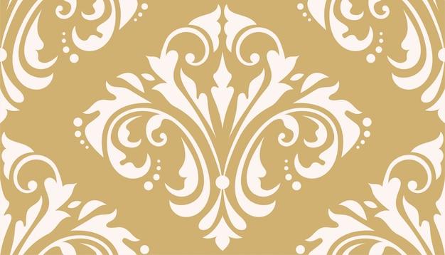 ビンテージ花柄。ダマスク織のシームレスパターン