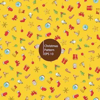 Рождественские иконки бесшовные модели
