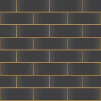 ビンテージ黒レンガ壁の背景