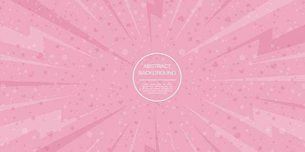 ピンクの背景と抽象的な愛バレンタイン色