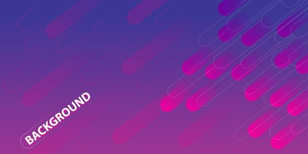 紫色のグラデーションの幾何学的な円図形の背景