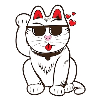 Крутой манеки неко кот
