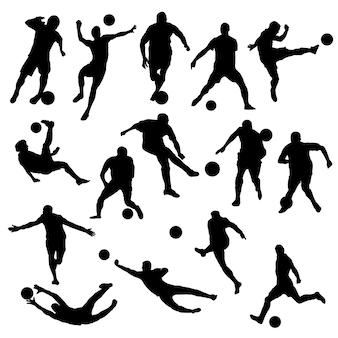 サッカースポーツクリップアートシルエットベクトル
