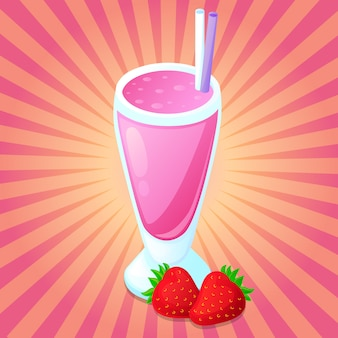 Смузи детокс напиток сок клубника фруктовый клип арт