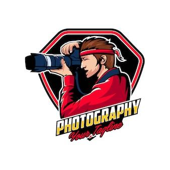 カメラの写真のロゴバッジ