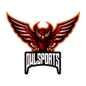 フクロウのスポーツのロゴ
