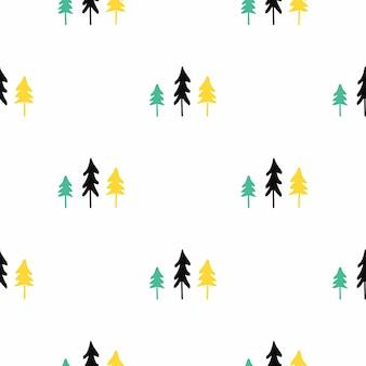 スカンジナビアのクリスマスツリーのシームレスなパターン。