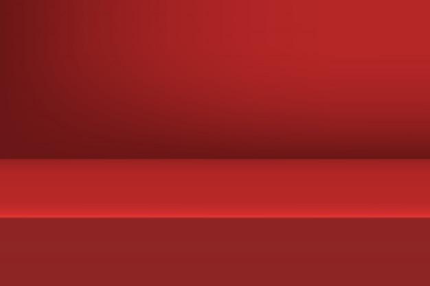 コピースペースを持つ製品表示のための赤の背景。