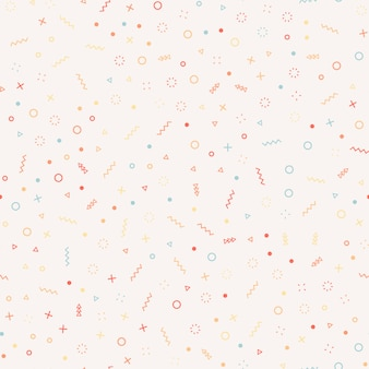 幾何学的なメンフィススタイルのシームレスなパターン。