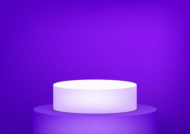 Пустой подиум студия фиолетовый фон