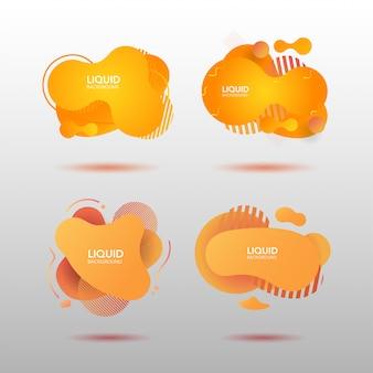 Градиент абстрактные жидкие формы, установленные в оранжевый