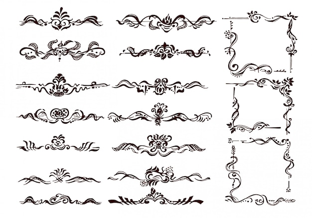 装飾用の枠線と繁栄のコーナー