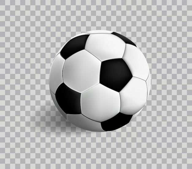 Футбол изолирован на прозрачности