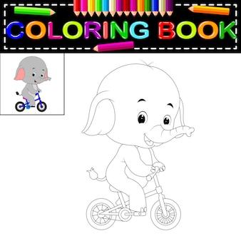 Книжка-раскраска слонов