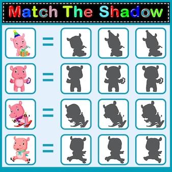 Найти правильную тень бегемота