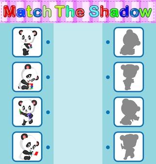 Найти правильную тень панды