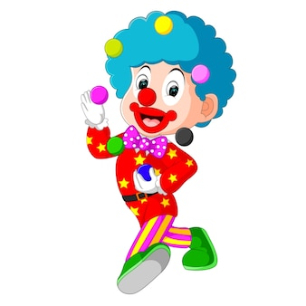 Клоун, играющий в мяч