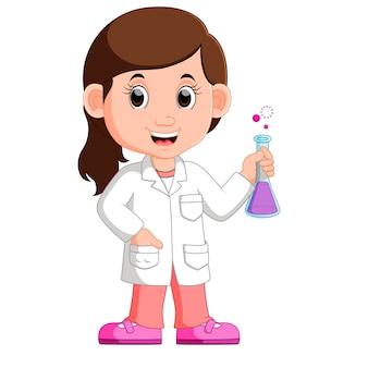 若い女の子科学者